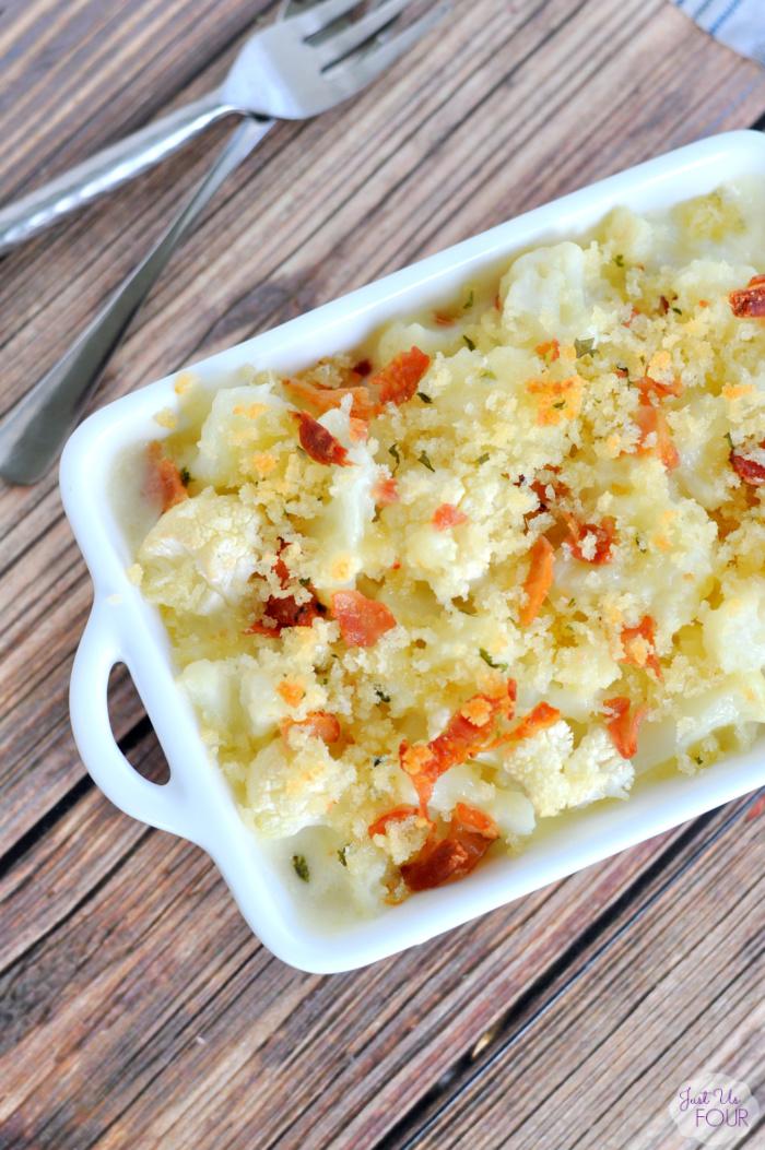 The BEST way to eat cauliflower is in a cheesy cauliflower gratin!