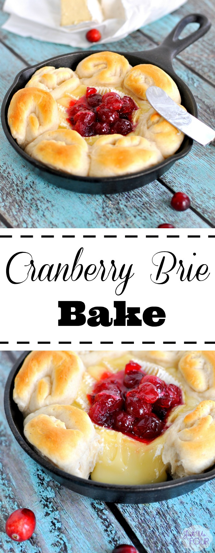 A cranberry brie skillet is the perfect one pan appetizer!