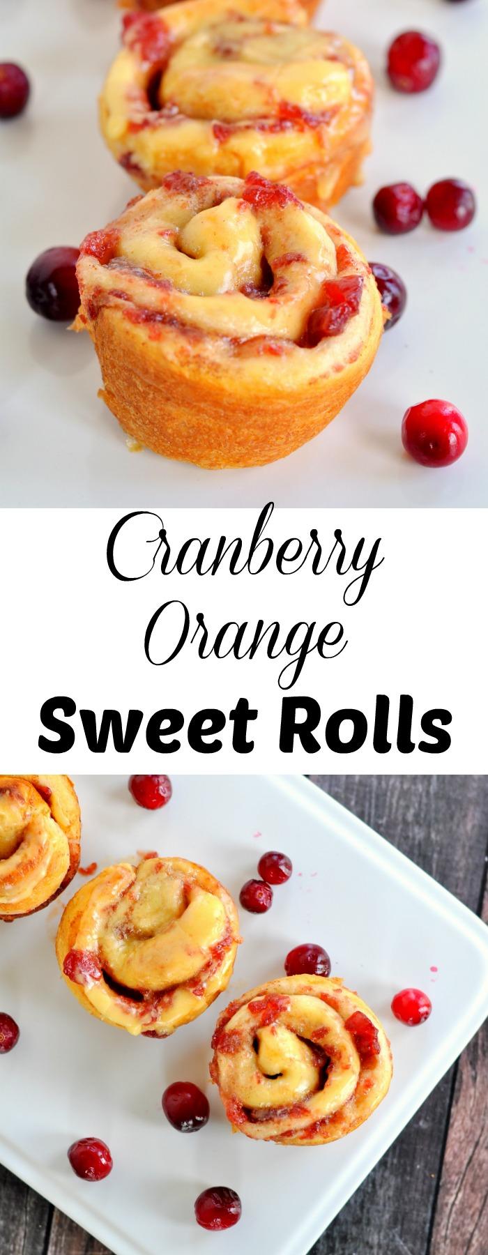Cranberry orange sweet rolls are the perfect breakfast treat.