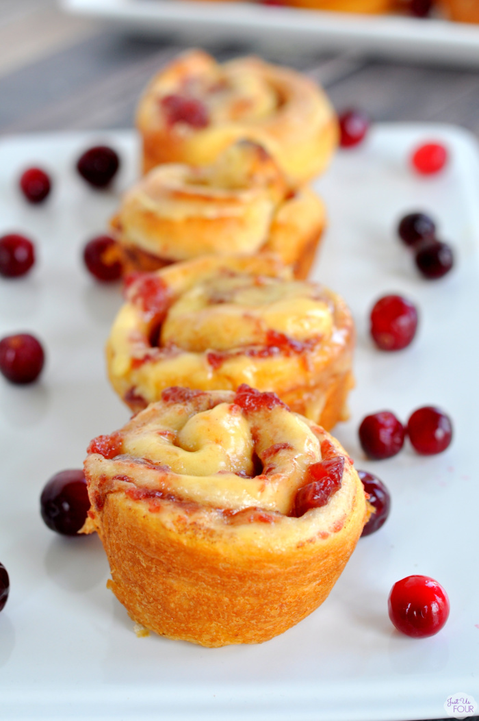 Easy Cranberry Orange Sweet Rolls