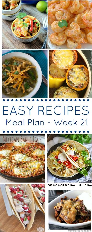 Make your weeks less stressful by using our easy dinner recipes meal plan to put your menu together.
