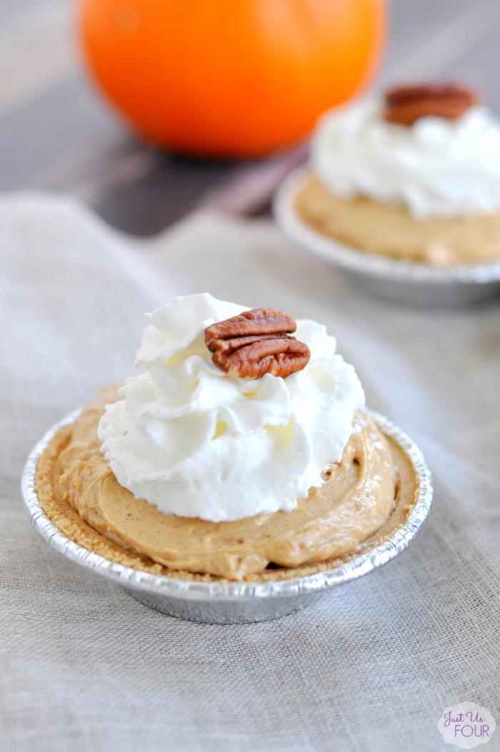 No Bake Mini Pumpkin Pies