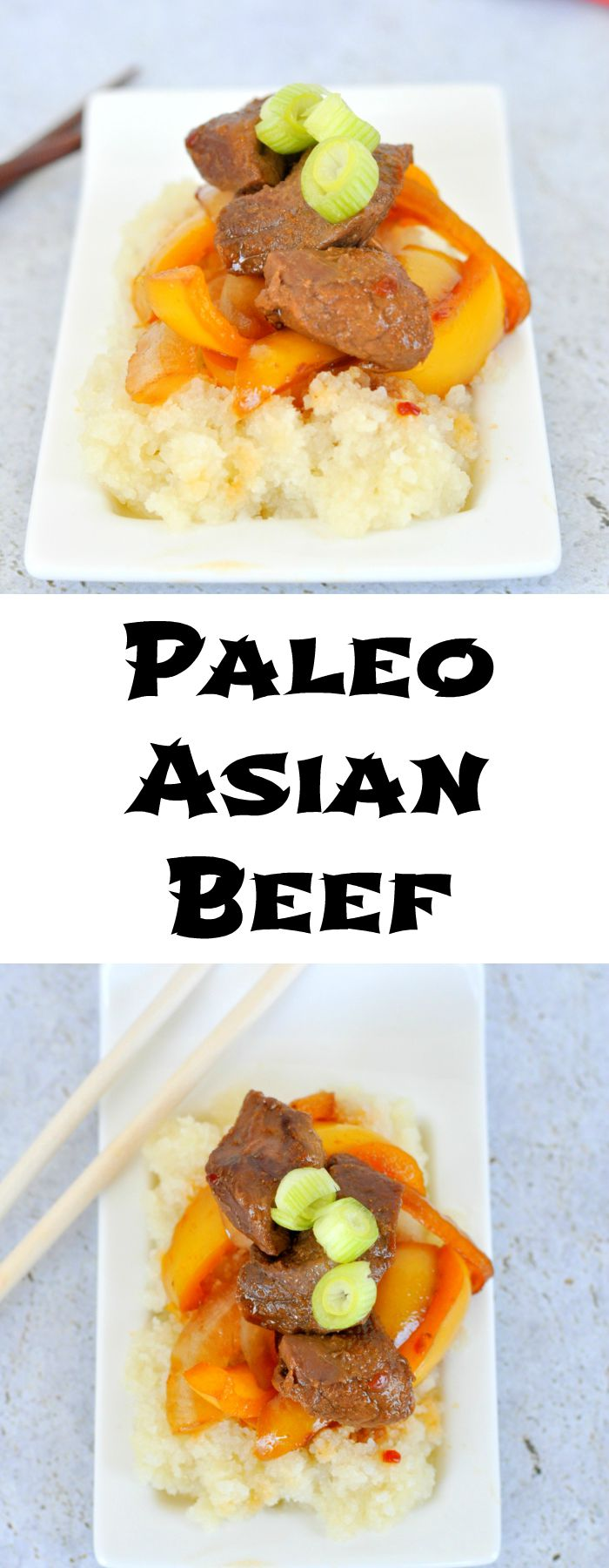 Paleo Asian Beef is a quick and easy meal that is perfect for weeknights...or any night!