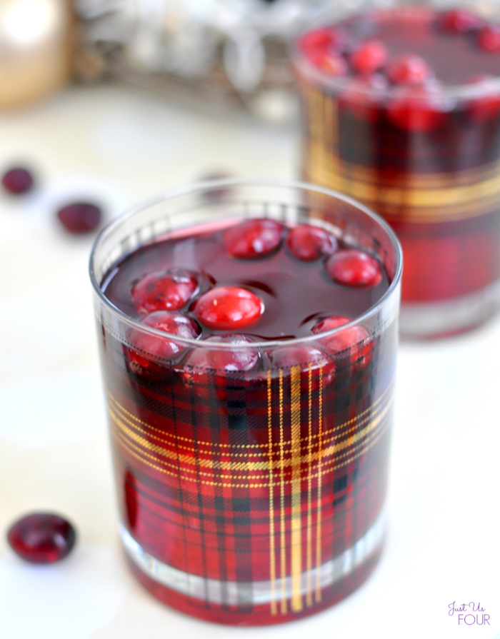 Sparkling Cranberry Mojito - Just Us Four