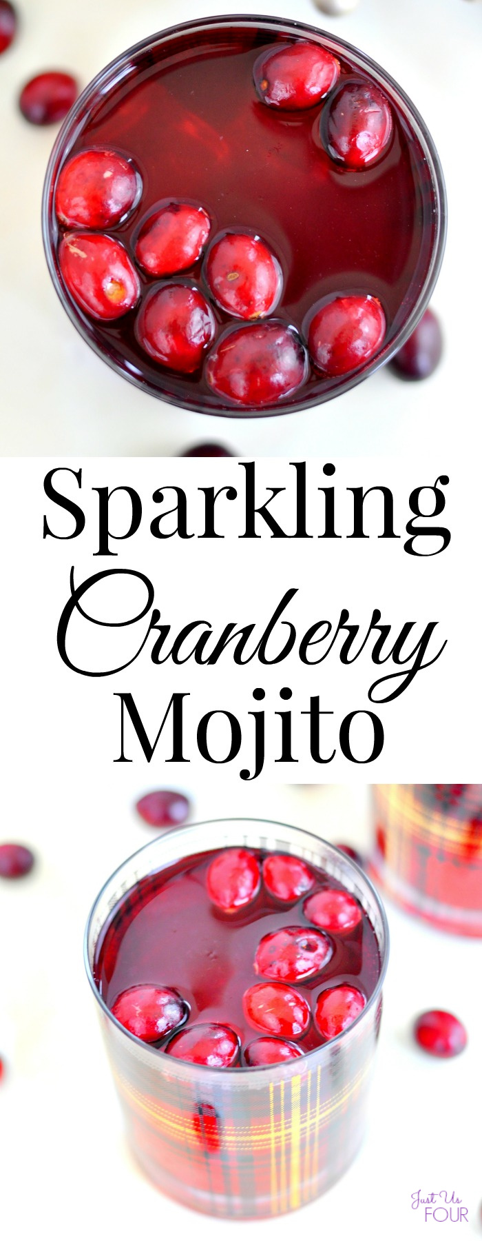 A sparkling cranberry mojito is the perfect party drink!