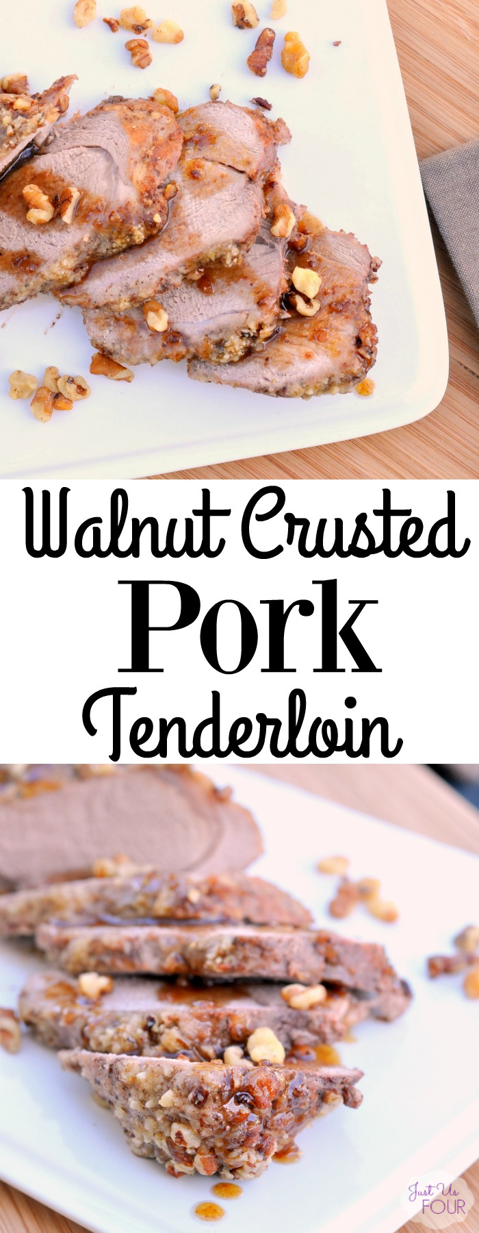 """Walnut Crusted Pork Tenderloin is the perfect """"fancy"""" meal that you can make quickly and easily."""