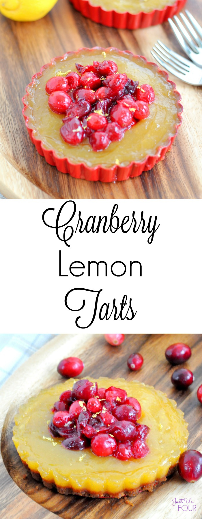 Cranberry Lemon Tarts are a great holiday dessert that can easily be made ahead of time!