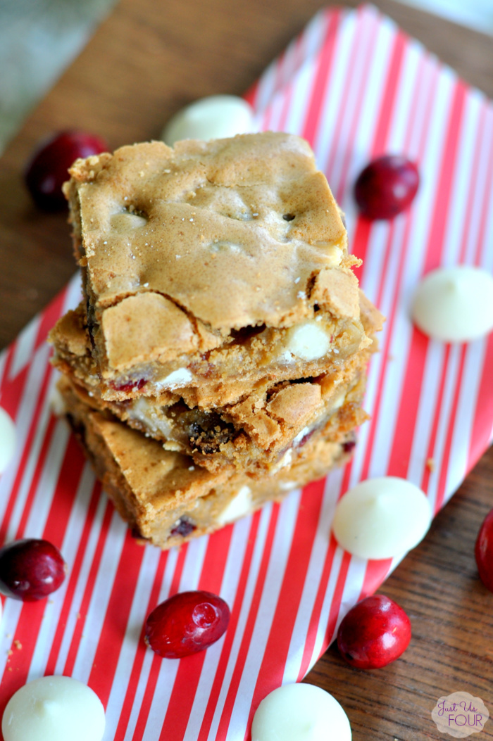 Easy Cranberry White Chocolate Blondies