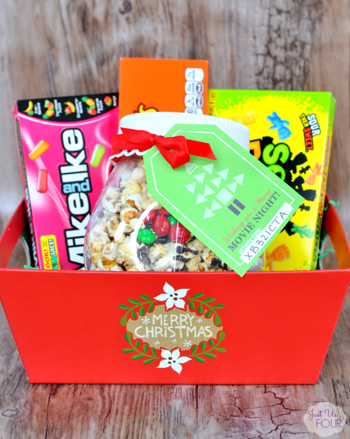 Dark Chocolate Popcorn Mix Gift Basket