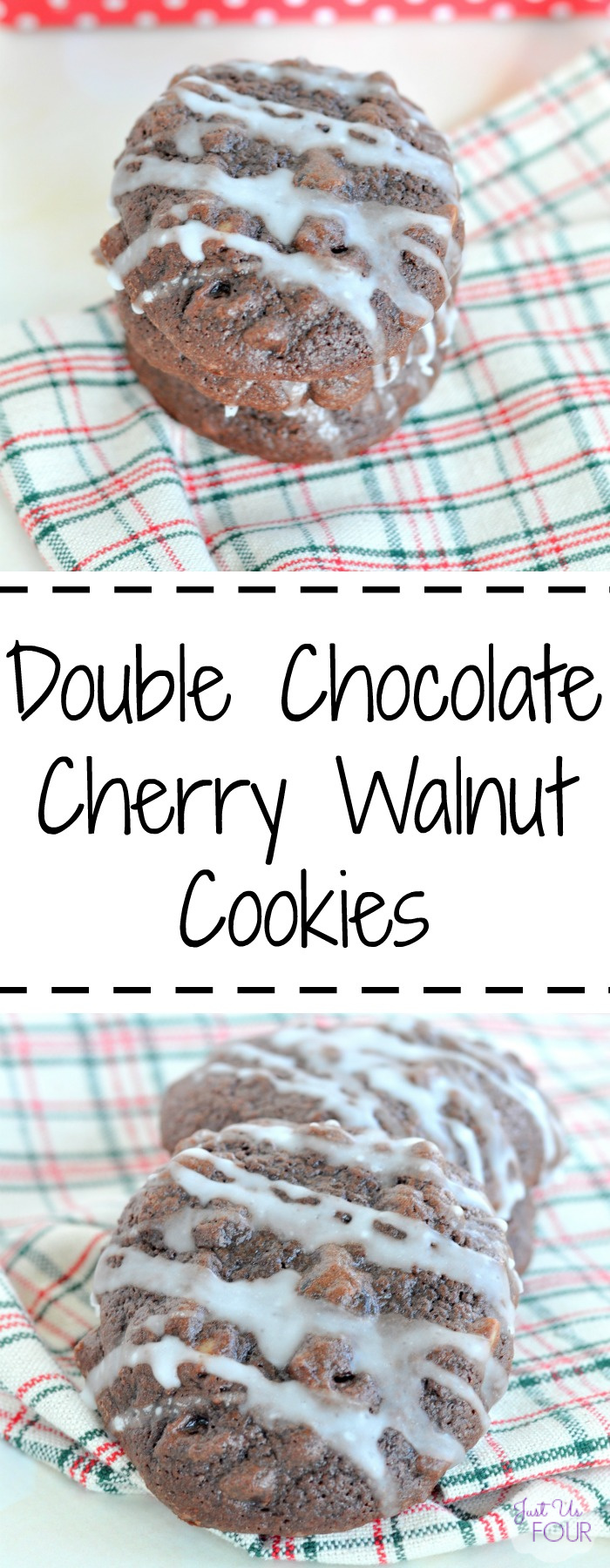 Double chocolate cherry walnut cookies are so delicious and perfect for a sweets lovers.