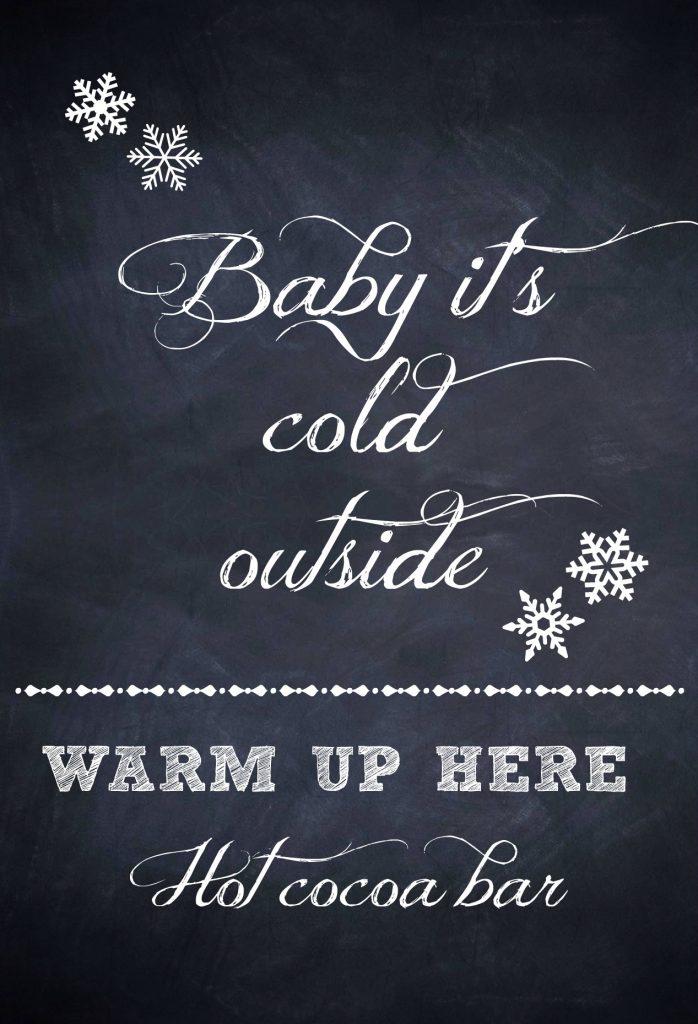 hot cocoa bar print