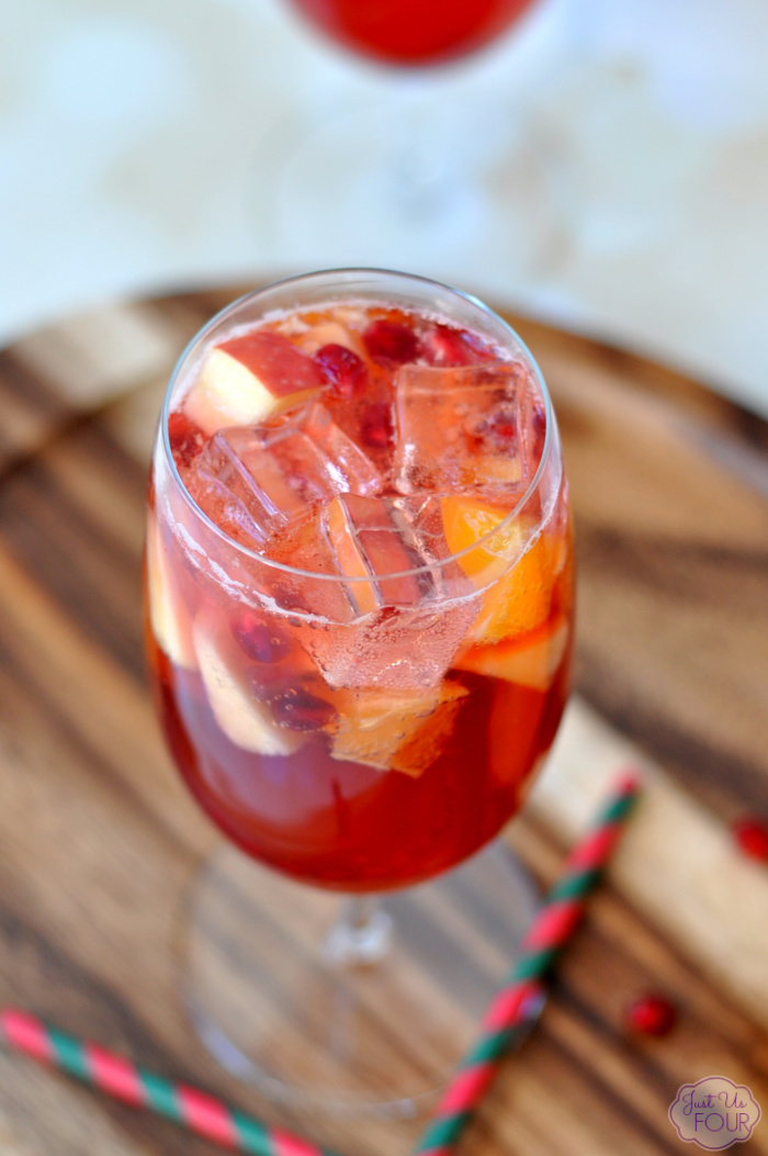 Orange Pomegranate Sparkling Punch