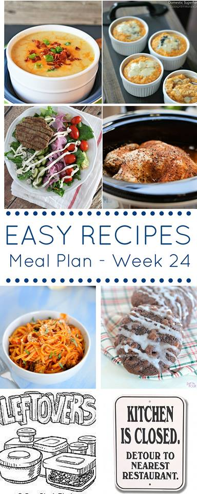 Use this meal plan full of easy recipes to get dinner to the table every night!