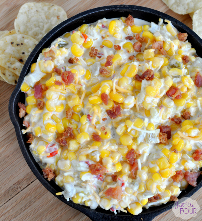 06 - Just Us Four - Cheesy Bacon Corn Dip
