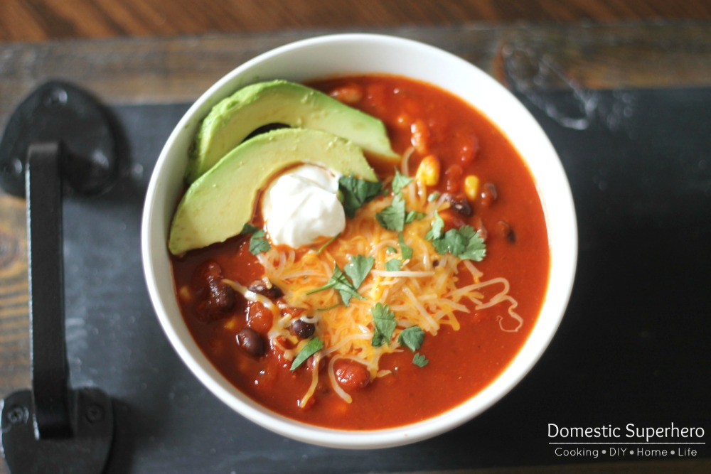 11 - Domestic Superhero - Skinny Cheesy Enchilada Soup