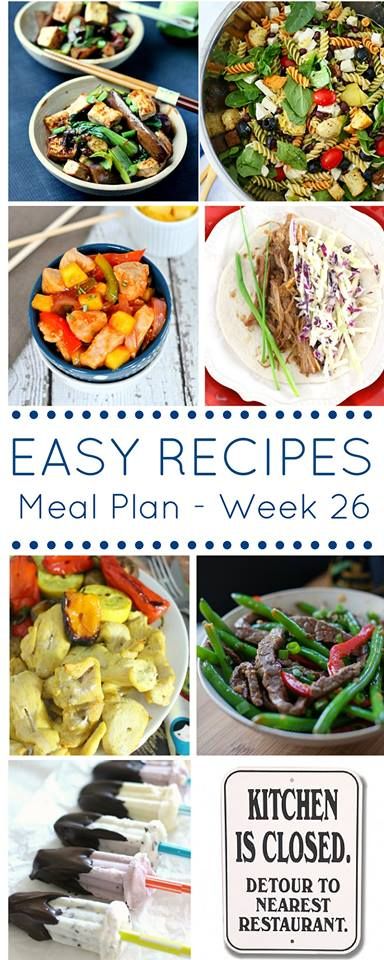 A weekly meal plan full of healthy recipes to help you stay on track with your healthier eating plan.