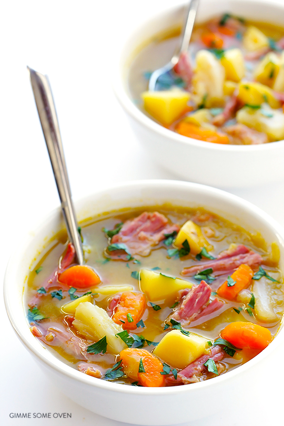 14 - Gimme Some Oven - Slow Cooker Corned Beef and Cabbage Soup