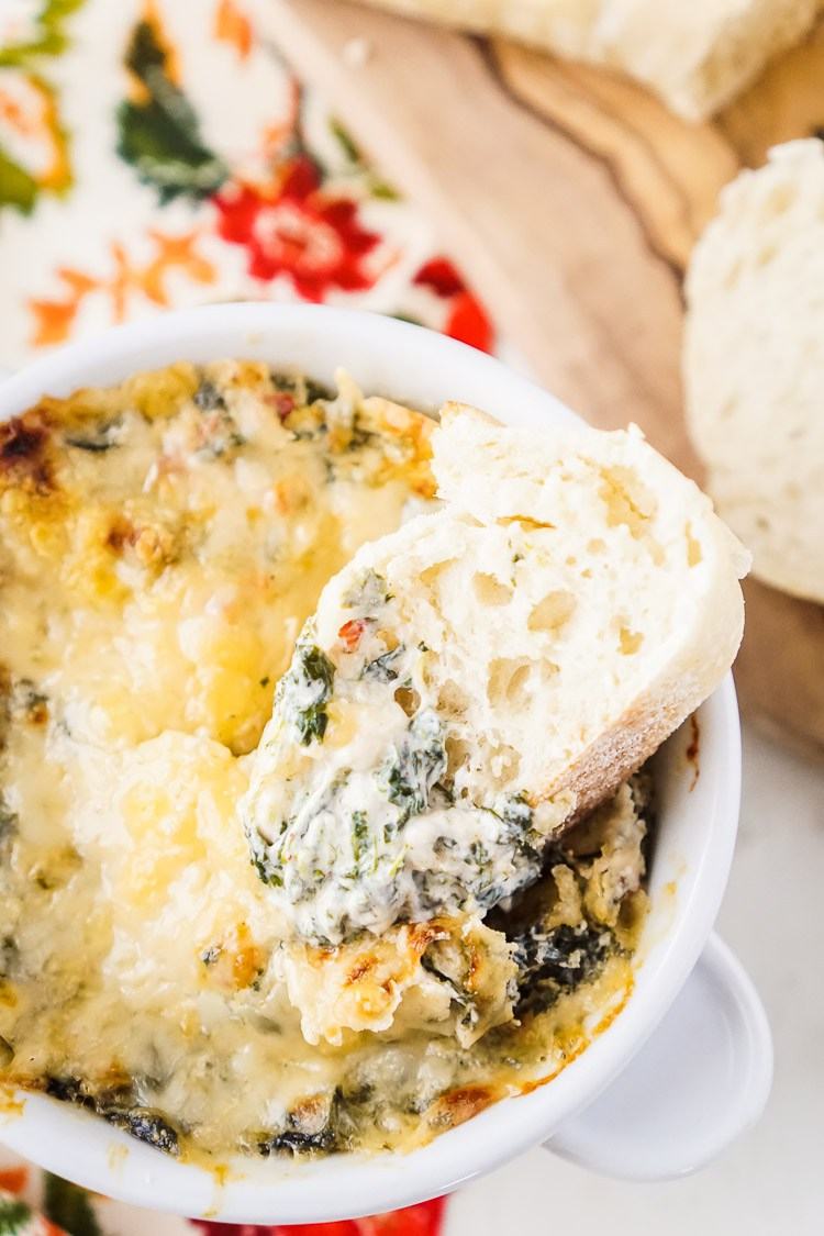 14 - Sugar and Soul - Baked Spicy Spinach Dip