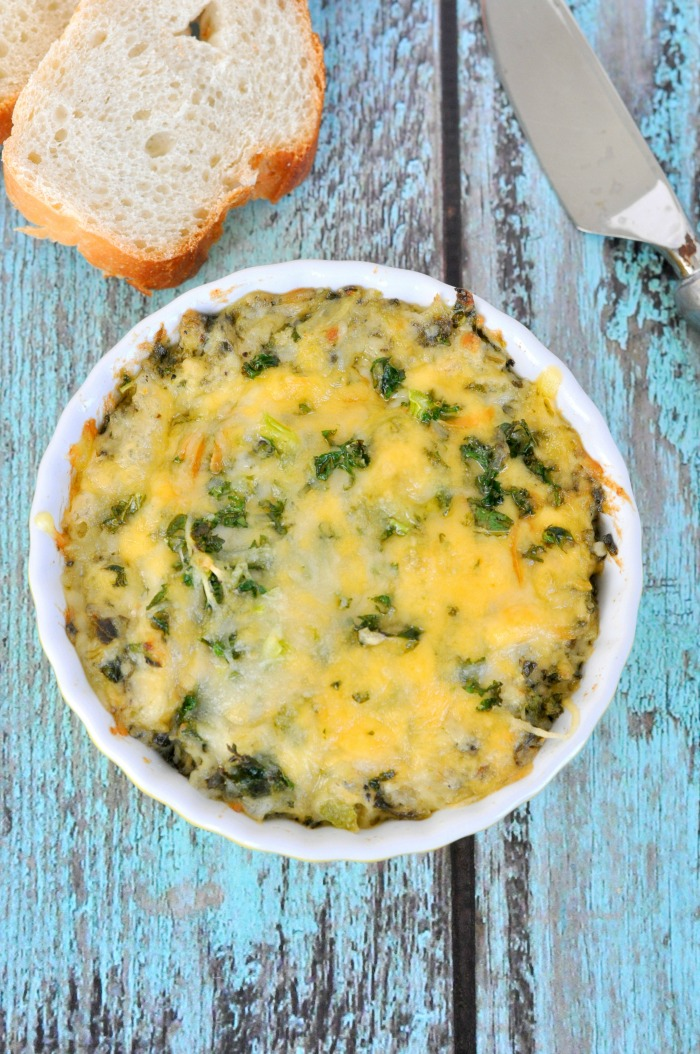 21 - Just Us Four - Triple Cheese Kale Dip