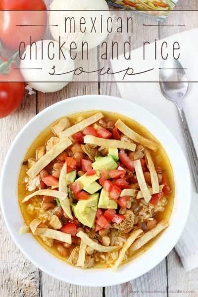 24 - Love Bakes Good Cakes - Mexican Chicken and Rice Soup