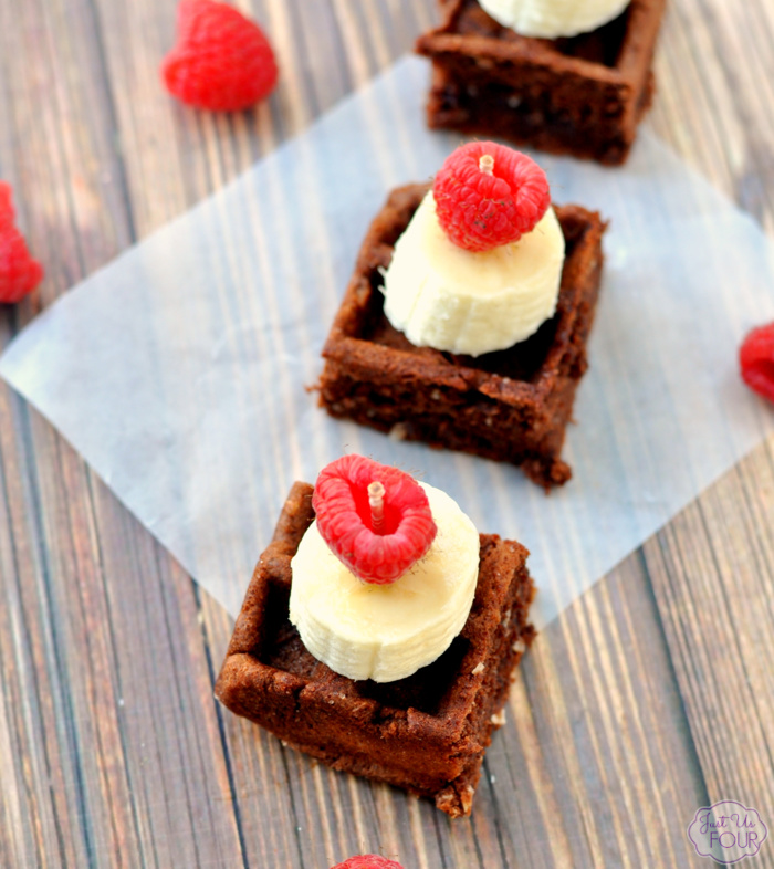 Mini Chocolate Waffle and Fruit Bites