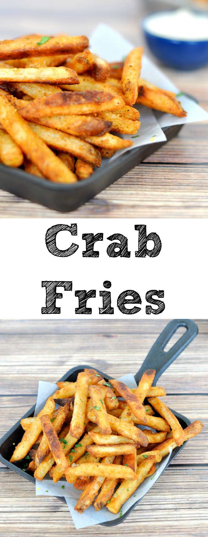 Crab fries are the perfect appetizer or finger food for game day!