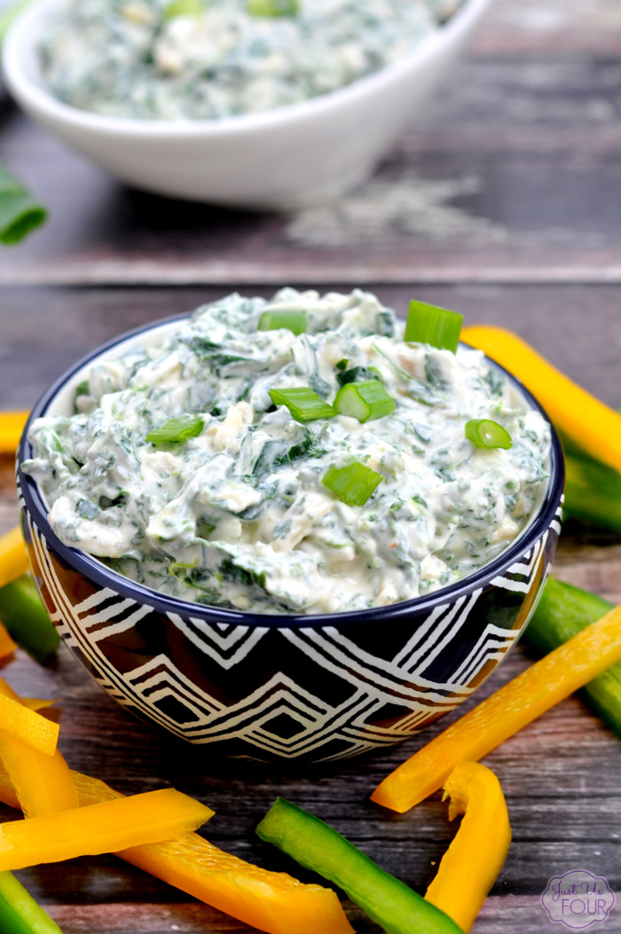 Give your spinach dip a healthy makeover with this easy recipe.