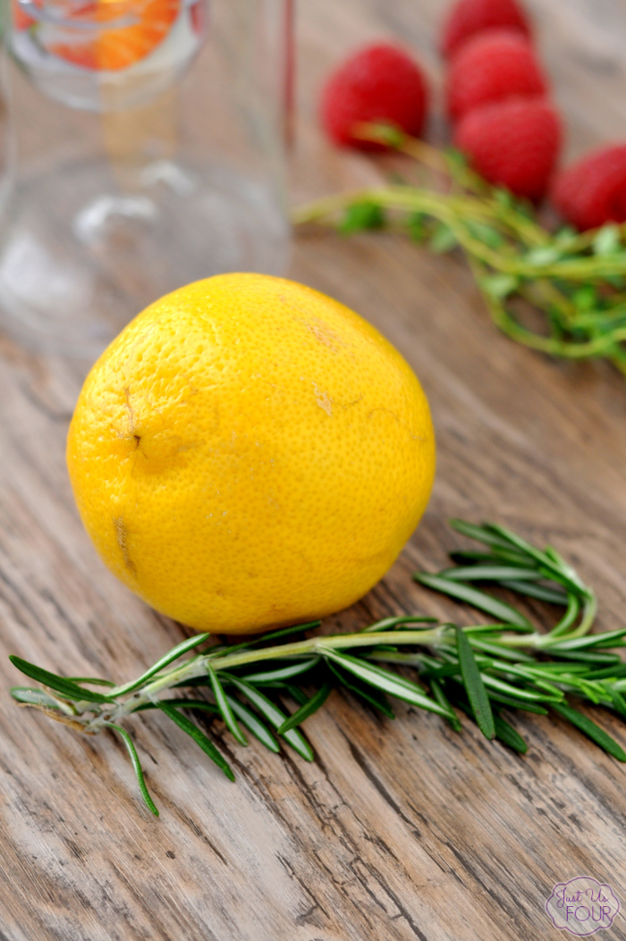 Infused Water Ideas - Lemon Rosemary Water