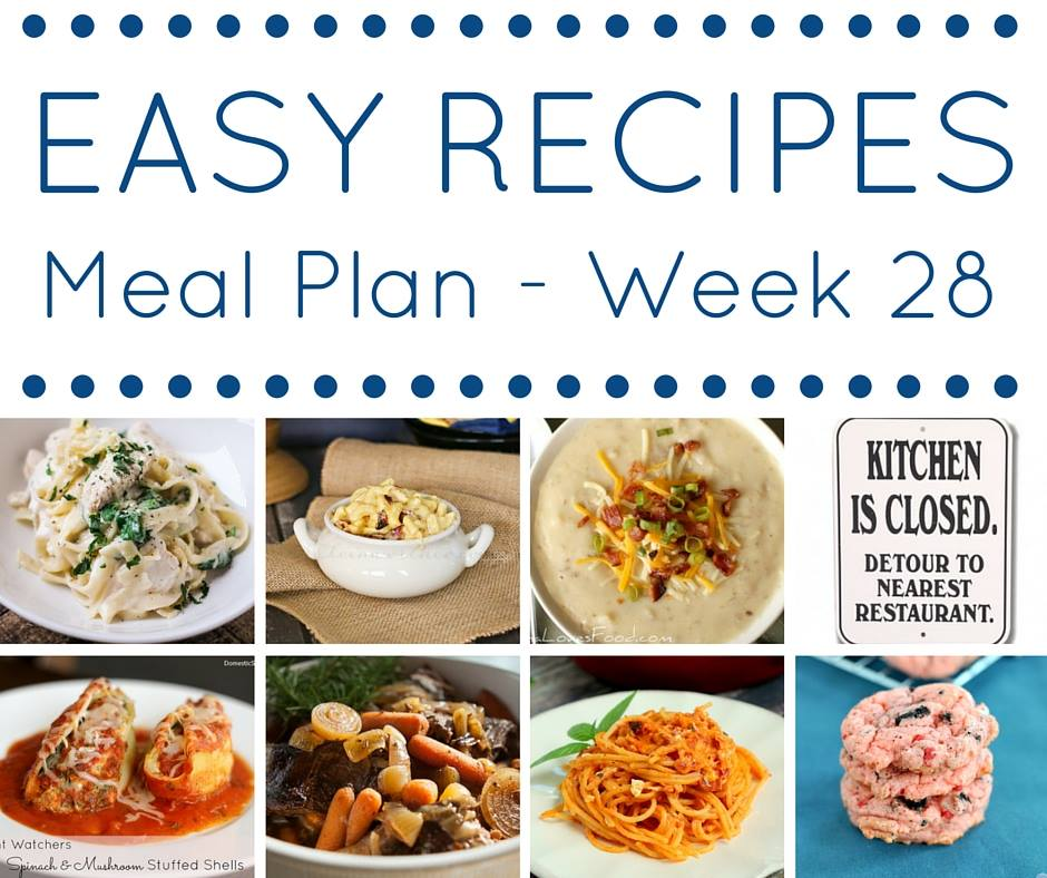 Make your week so much easier when you use our weekly meal plan full of easy dinner recipes.