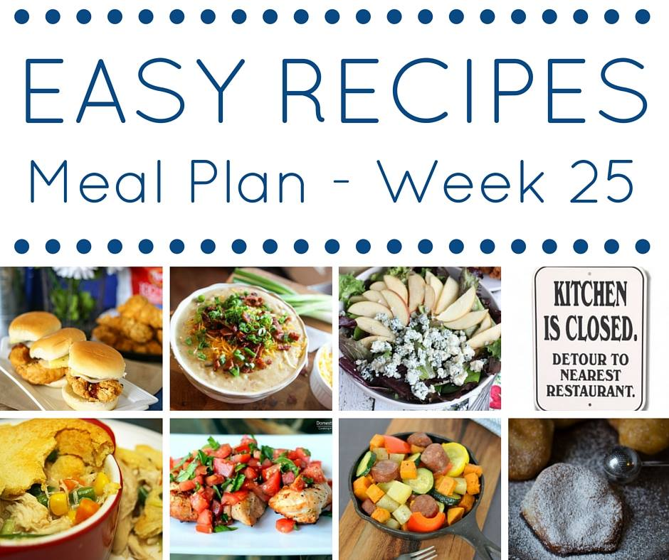 This week's meal plan is full of easy dinner recipes that are easy to get you started off right in 2016.