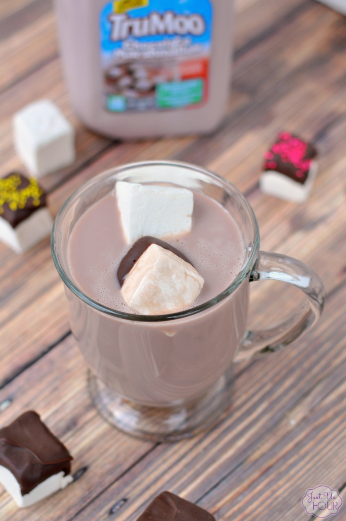Chocolate Dipped Marshmallows and Milk
