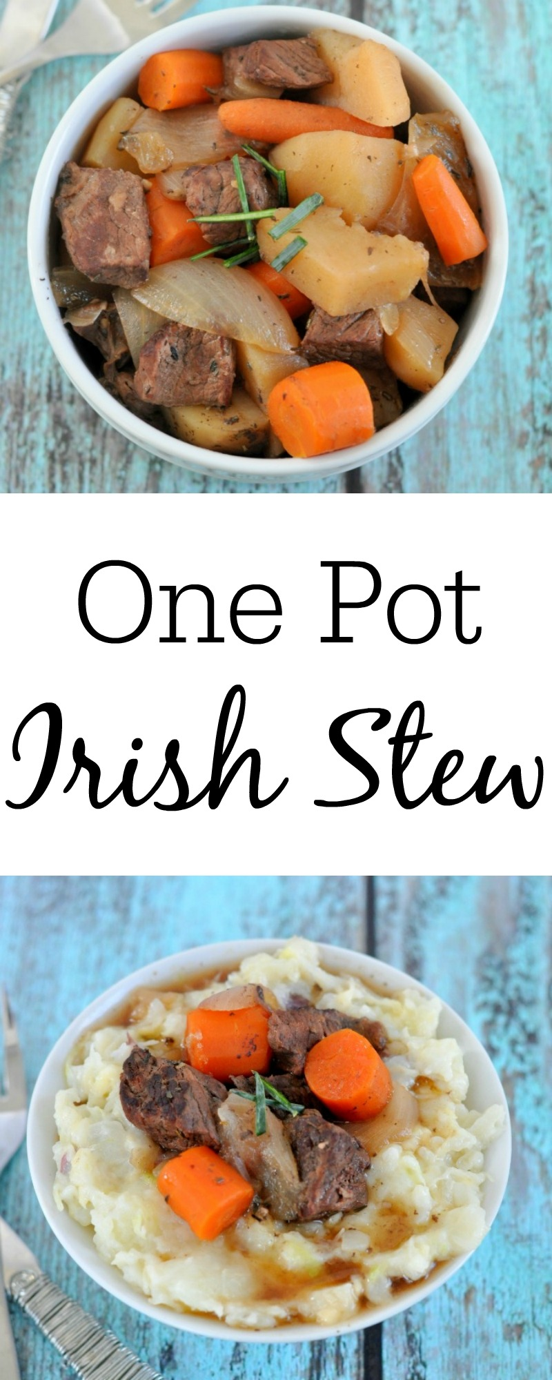 This is the easiest and most delicious St. Patrick's Day recipe you will make! One pot Irish stew is perfect for anytime of year.