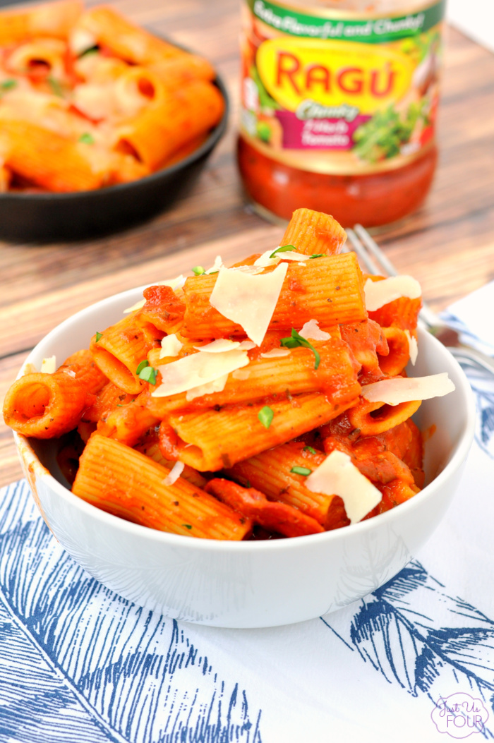 One Pot Pizza Rigatoni