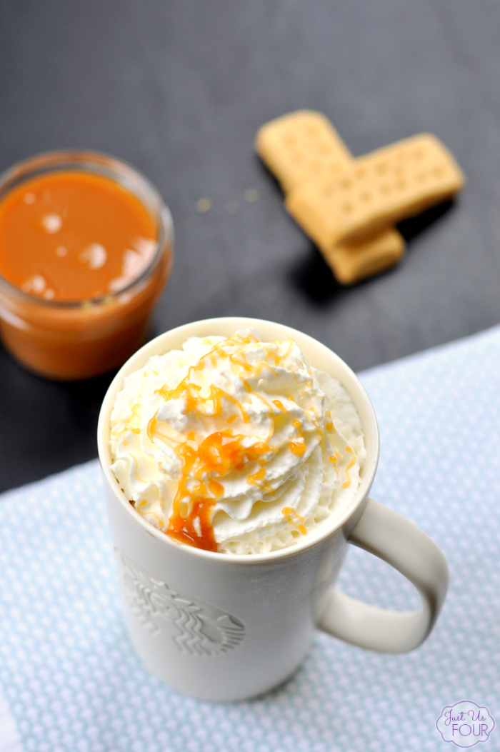 hot chocolate and salted caramel sauce are the perfect combination