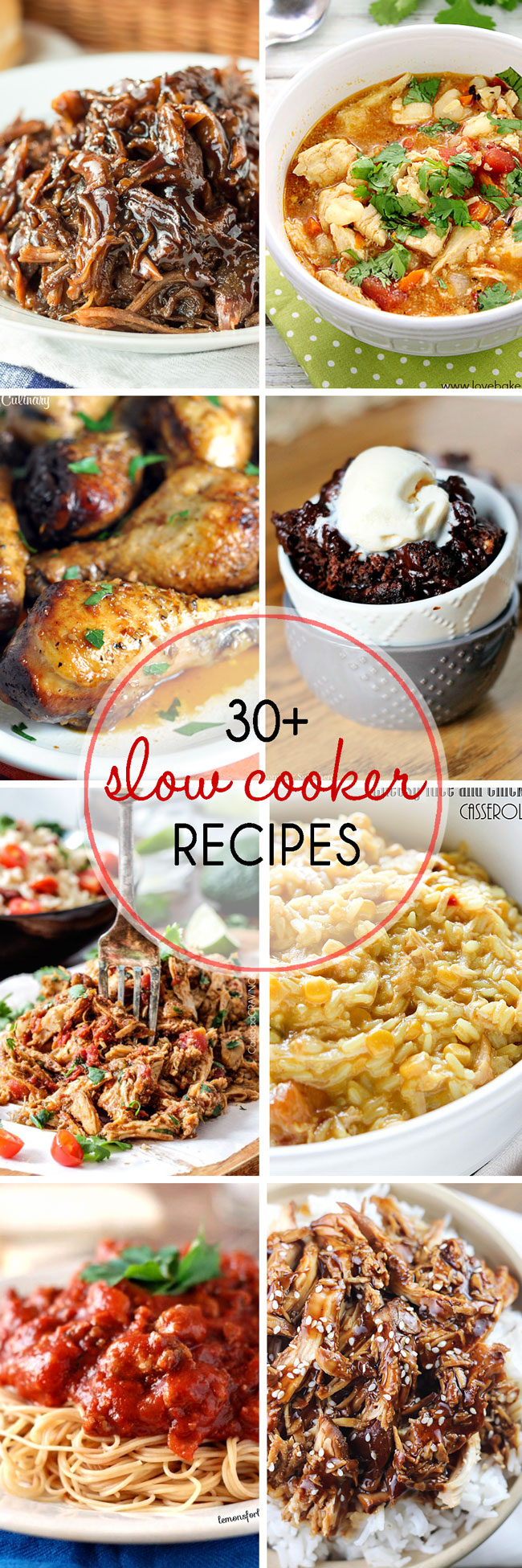 Be sure to save these 30+ slow cooker recipes because you'll want to make them all.