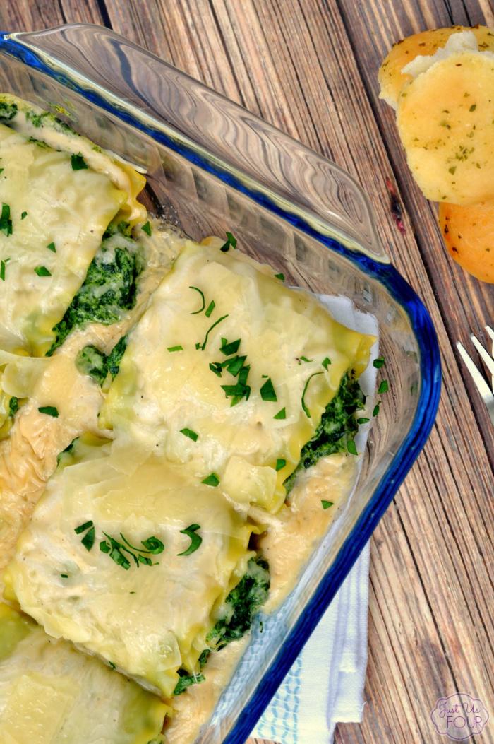 Spinach Artichoke Lasagna Rolls