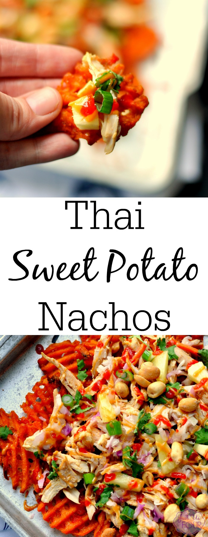 Thai sweet potato nachos are full of flavor and a great alternative to the traditional potato variety.