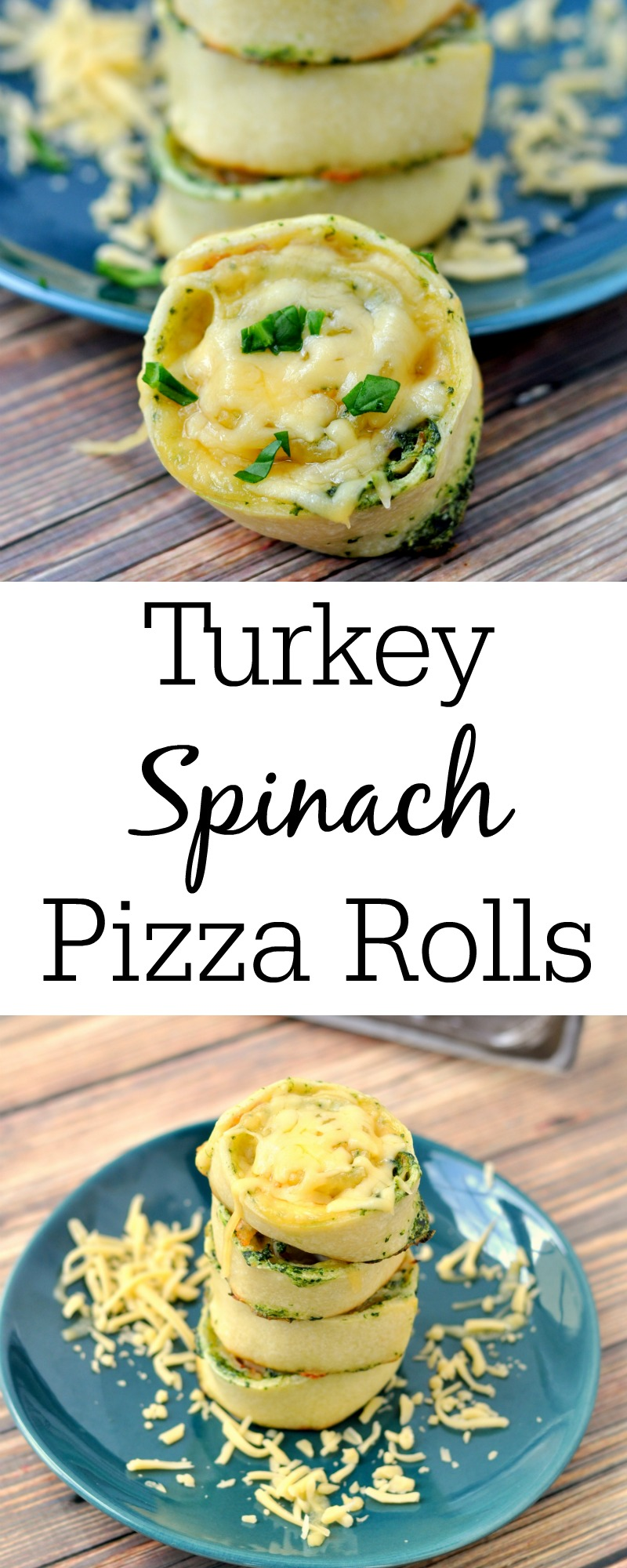 These turkey spinach pizza rolls make a quick and easy dinner or party appetizer.