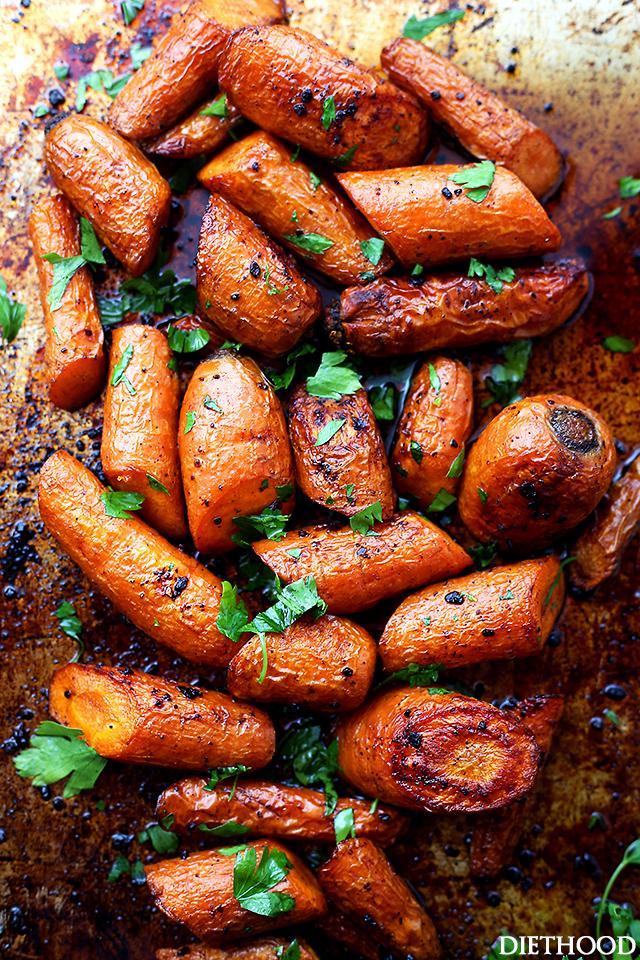 02 - Diethood - Garlic Butter Roasted Carrots