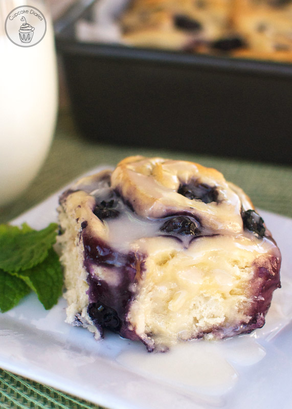 12 - Cupcake Diaries - Blueberry Sweet Rolls with Lemon Glaze