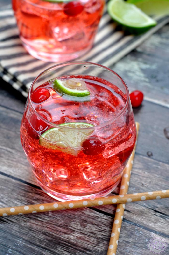 Cranberry Lime Vodka Tonic