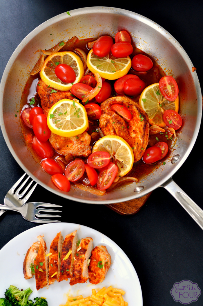 This lemon paprika chicken recipe is done in under 30 minutes. It makes the perfect weeknight meal!