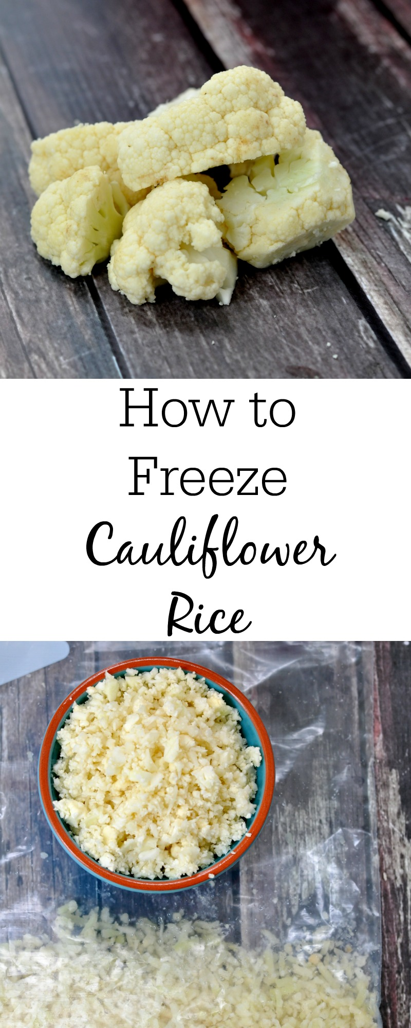 How to Perfectly Freeze Cauliflower Rice