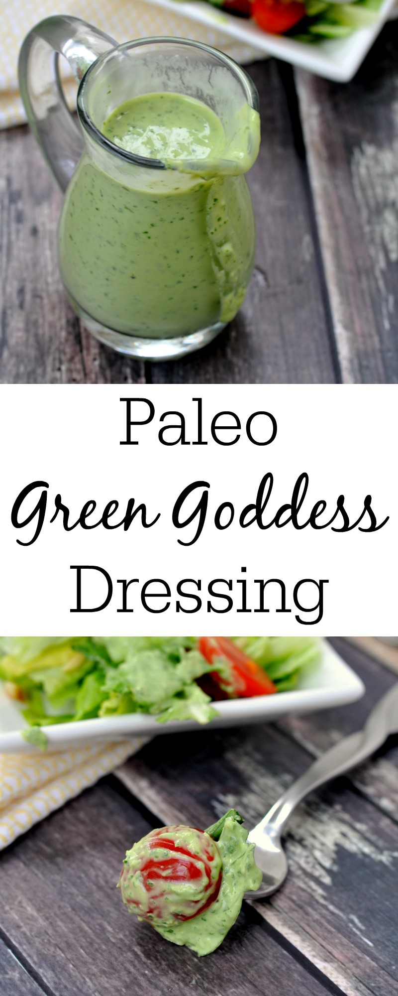 Your salads will never be the same once you try this paleo green goddess dressing with them. The recipe is so easy and really tasty.