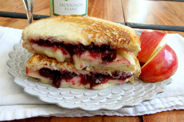 12 - Recipe Girl - Brie Apple and Cranberry Grilled Cheese