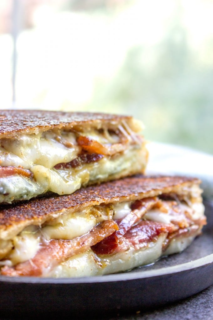 14 - Dinner then Dessert - Fig and Bacon Grilled Cheese