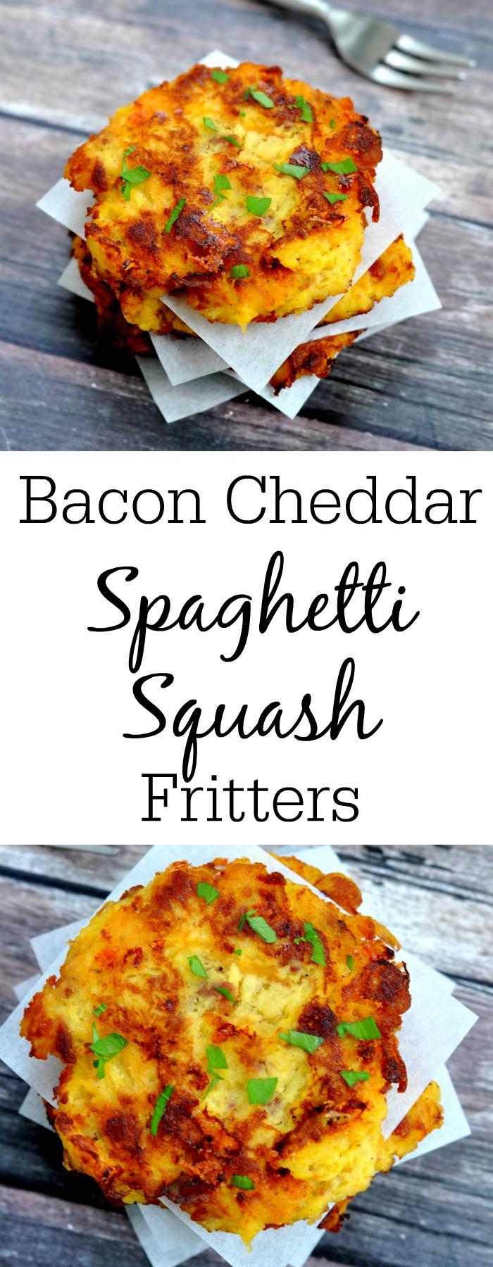 Bacon Cheddar Spaghetti Squash Fritters