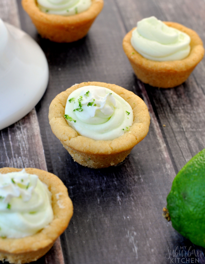 Easy Key Lime Cookie Cups