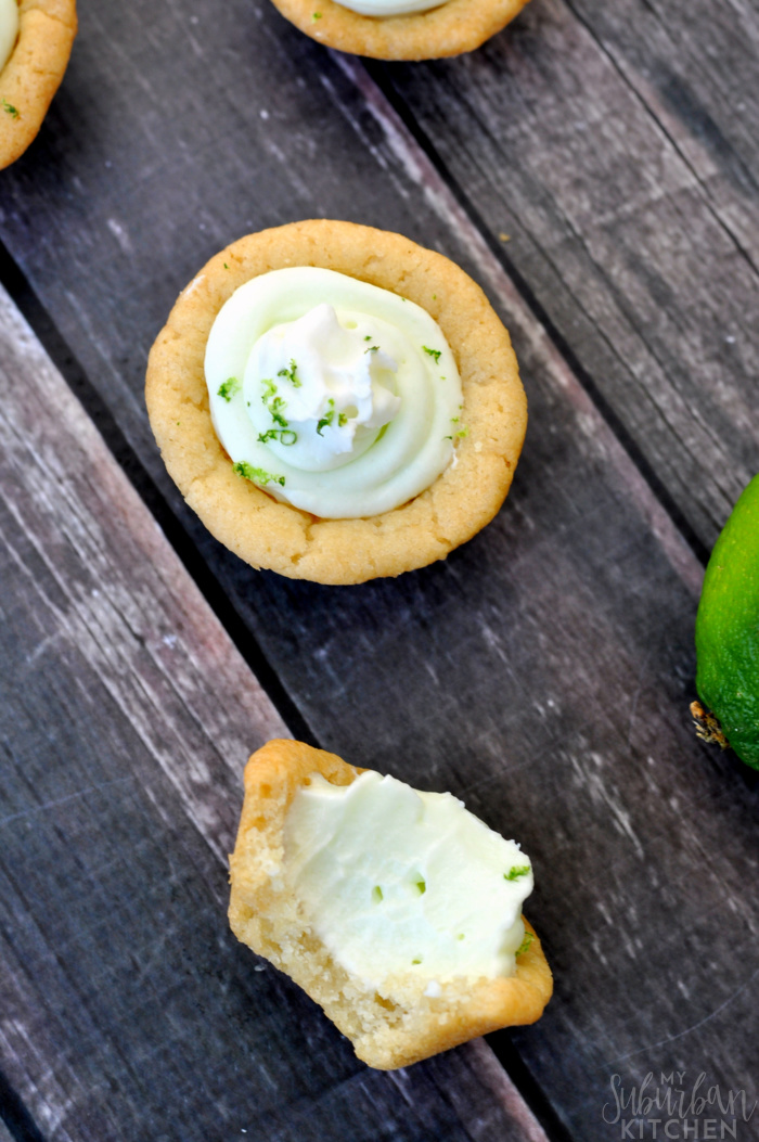 Fun Key Lime Cookie Cups