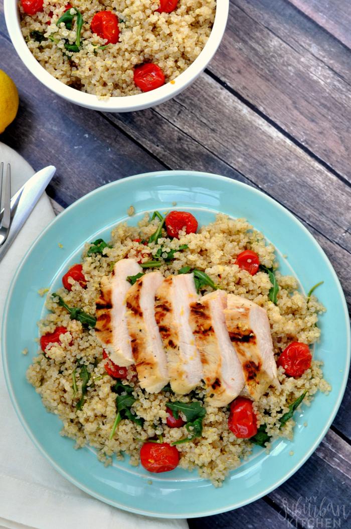 Citrus Chicken with Quinoa Salad